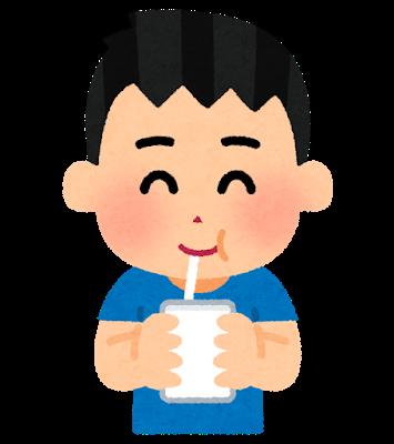 牛乳と乳酸飲料