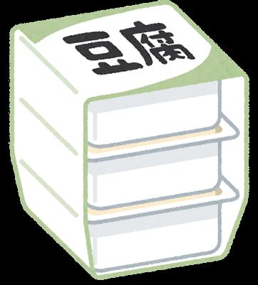 大豆製品の豆腐