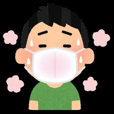 透析患者さんと夏マスク