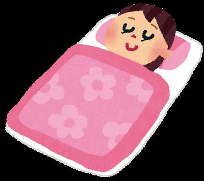 透析患者さんの寝ている風景
