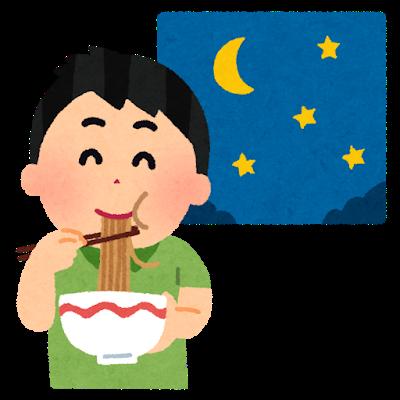 夜間透析後の間食