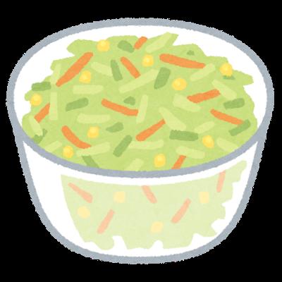 透析患者さんと食物繊維豊富な料理